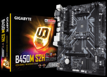 Motherboard GIGABYTE AMD B450M-S2H Socket AM4